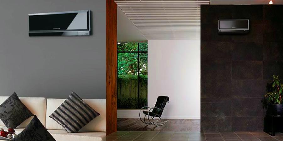 black piano model airconditioner