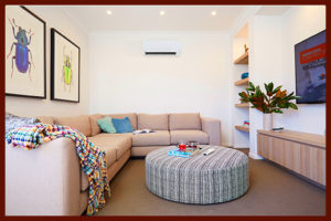 large couch and air-conditioned living room