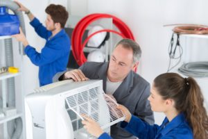 aircon filter cleaning
