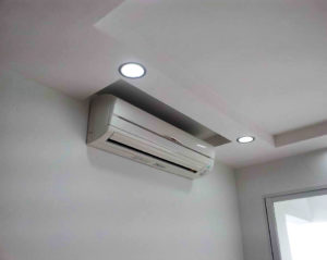 split system air conditioner installed
