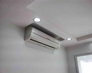 split system air conditioner installed